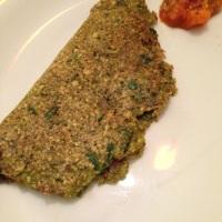 Vegetable Moong Dal Chilla (Lentil Crepes)
